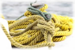 Yellow boat rope