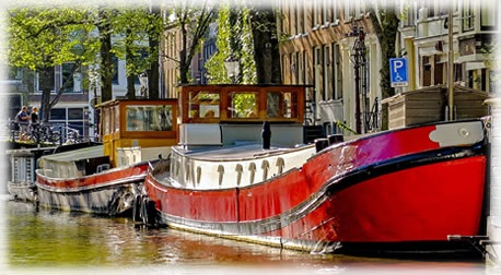 Dutch Barge on canal